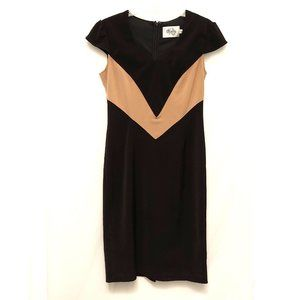 Black Ruby Belle with Beige Accent Career Dress